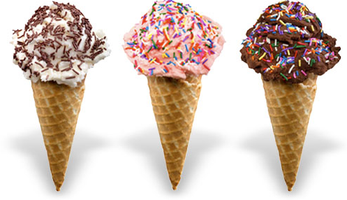 ice cream cone sprinkles